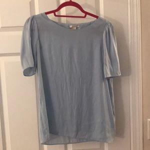 Light blue business blouse